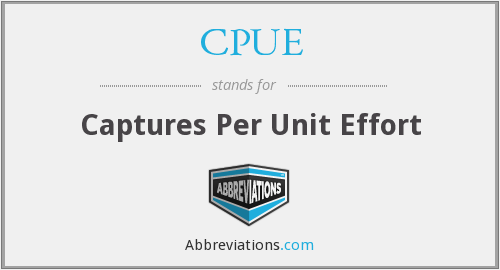 CPUE - captures per unit effort