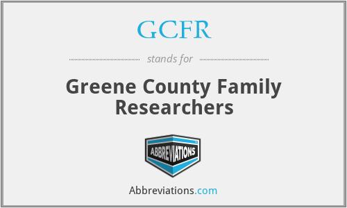 GCFR - Greene County Family Researchers