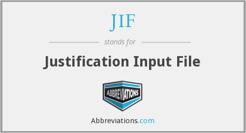 JIF - Justification Input File
