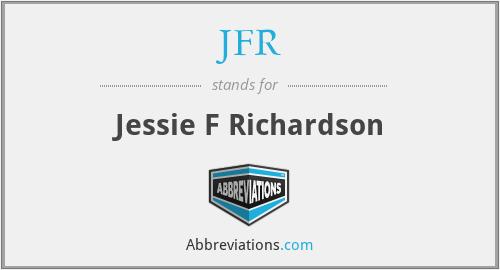 JFR - Jessie F Richardson