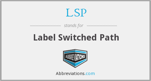 LSP - Label Switched Path