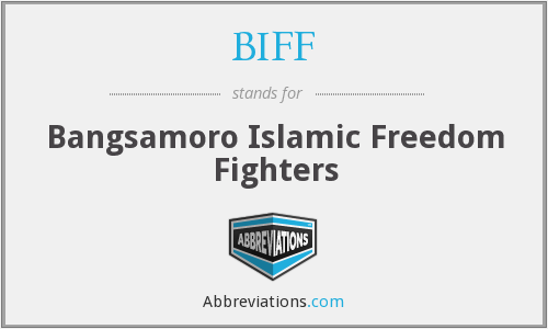 BIFF - Bangsamoro Islamic Freedom Fighters