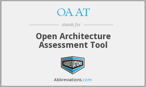 OAAT - Open Architecture Assessment Tool