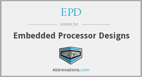EPD - Embedded Processor Designs