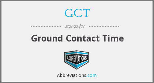 GCT - Ground Contact Time