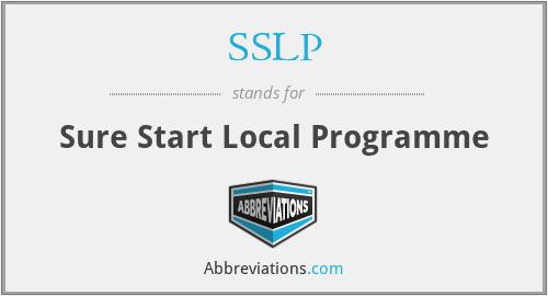 SSLP - Sure Start Local Programme