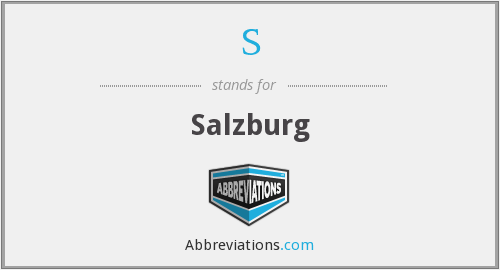 S - Salzburg
