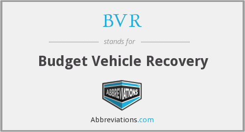 BVR - Budget Vehicle Recovery