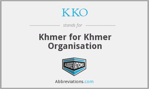 KKO - Khmer for Khmer Organisation