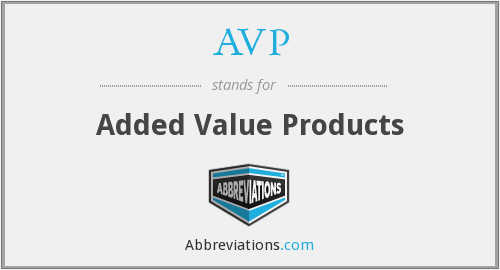AVP - Added Value Products
