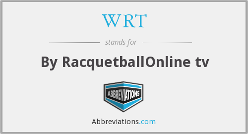 WRT - By RacquetballOnline tv