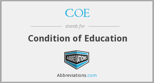 COE - Condition of Education