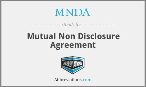 MNDA - Mutual Non Disclosure Agreement