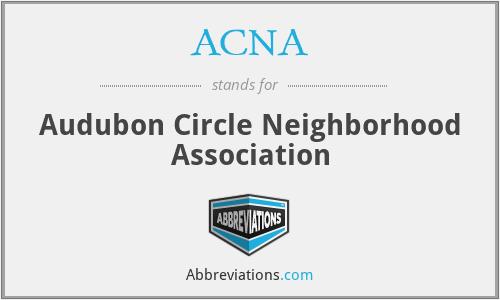 ACNA - Audubon Circle Neighborhood Association
