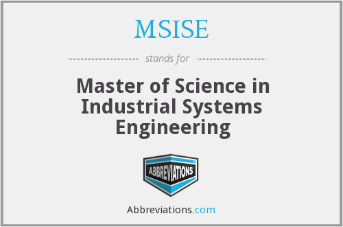 What does MSISE stand for?