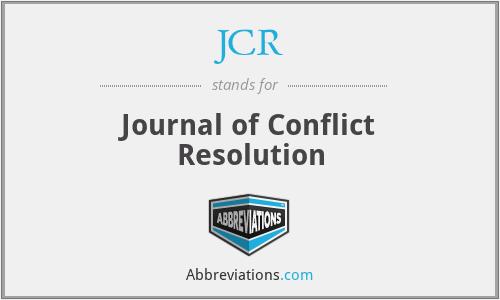 JCR - Journal of Conflict Resolution