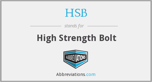 HSB - High Strength Bolt