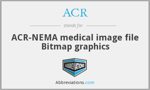 ACR - ACR-NEMA medical image file Bitmap graphics
