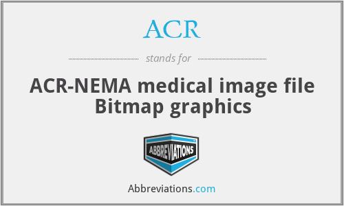 ACR - ACR-NEMA medical image file Bitmap graphics