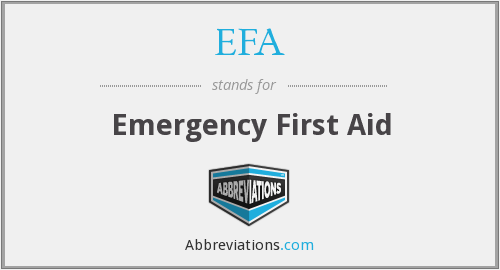 EFA - Emergency First Aid