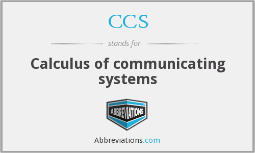 CCS - Calculus of communicating systems