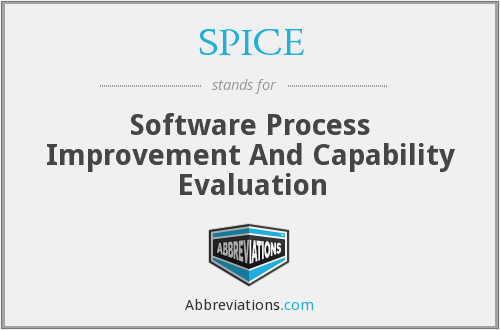 SPICE - Software Process Improvement And Capability Evaluation