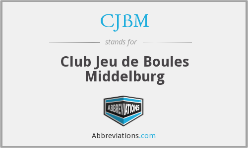 What does CJBM stand for?