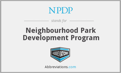 NPDP - Neighbourhood Park Development Program