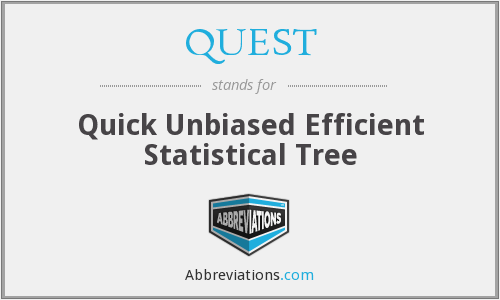 QUEST - Quick Unbiased Efficient Statistical Tree