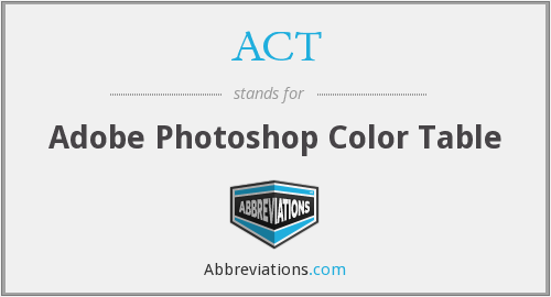ACT - Adobe Photoshop Color Table