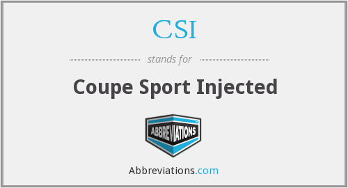 CSI - Coupe Sport Injected