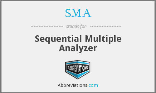 SMA - Sequential Multiple Analyzer