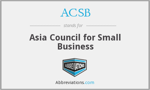 ACSB - Asia Council for Small Business