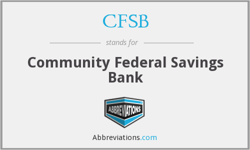 CFSB - Community Federal Savings Bank