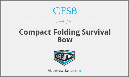 CFSB - Compact Folding Survival Bow