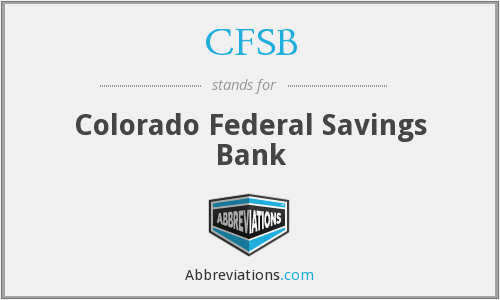 CFSB - Colorado Federal Savings Bank