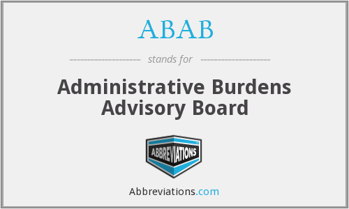ABAB - Administrative Burdens Advisory Board