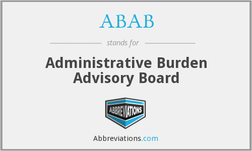 ABAB - Administrative Burden Advisory Board