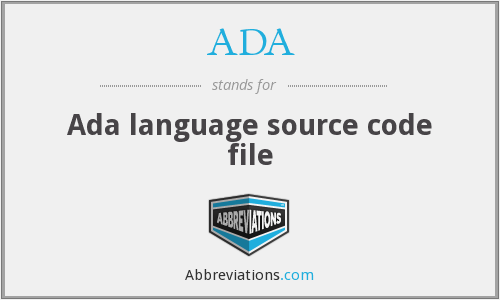 ADA - Ada language source code file
