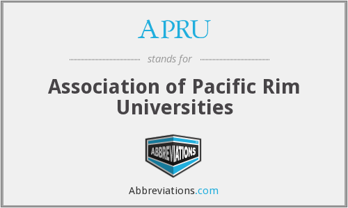 What does APRU stand for?