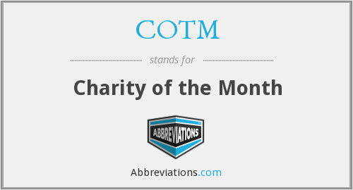 COTM - Charity of the Month