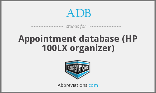 ADB - Appointment database (HP 100LX organizer)