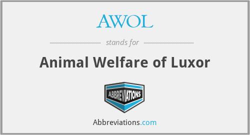 AWOL - Animal Welfare of Luxor