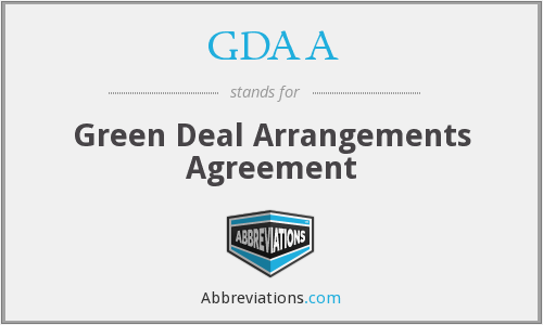 What does GDAA stand for?