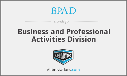 BPAD - Business and Professional Activities Division