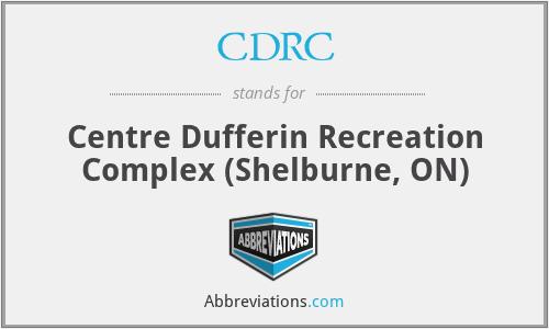CDRC - Centre Dufferin Recreation Complex (Shelburne, ON)