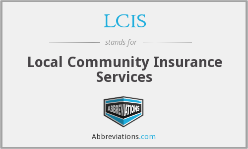 LCIS - Local Community Insurance Services