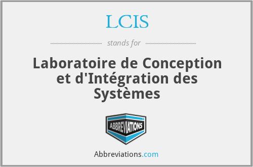 LCIS - Laboratoire de Conception et d'Intégration des Systèmes