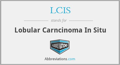 LCIS - lobular carncinoma in situ