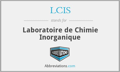 LCIS - Laboratoire de Chimie Inorganique